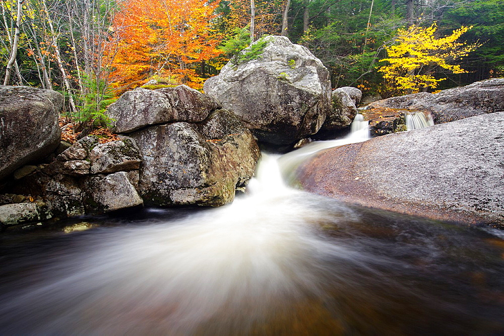 Harvard Brook in the White Mountains, New Hampshire, United States of America during the autumn months