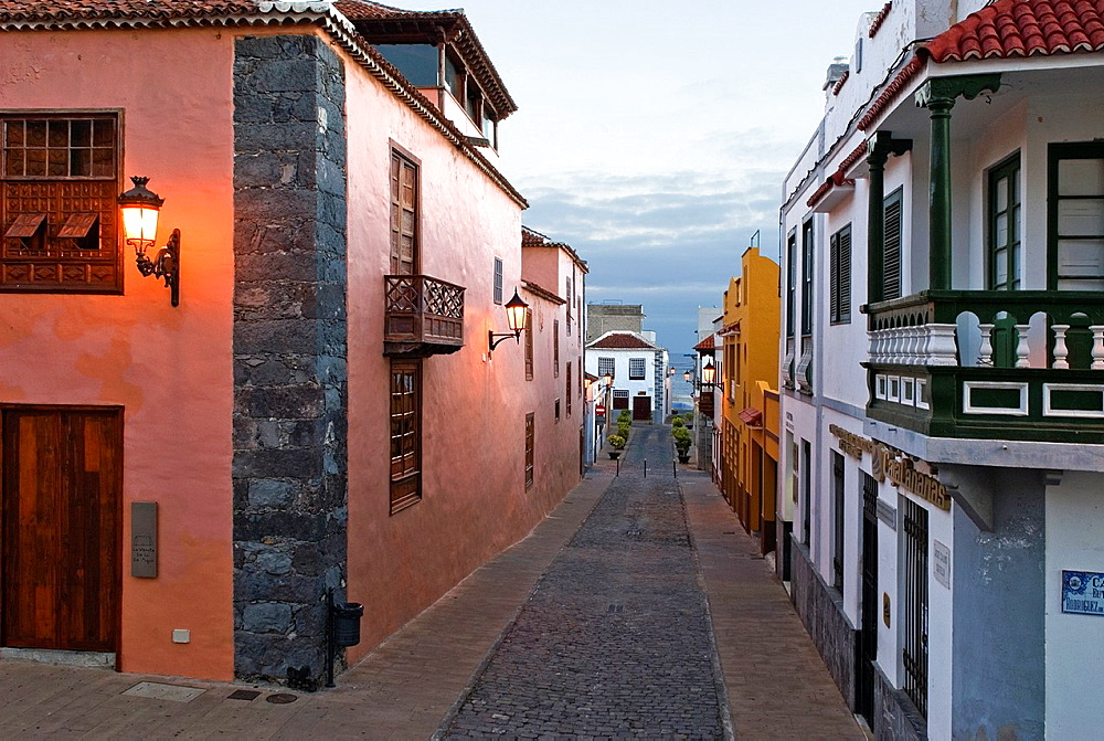 Street of Garachico, village on the North coast, Tenerife, Canary Islands, Atlantic Ocean