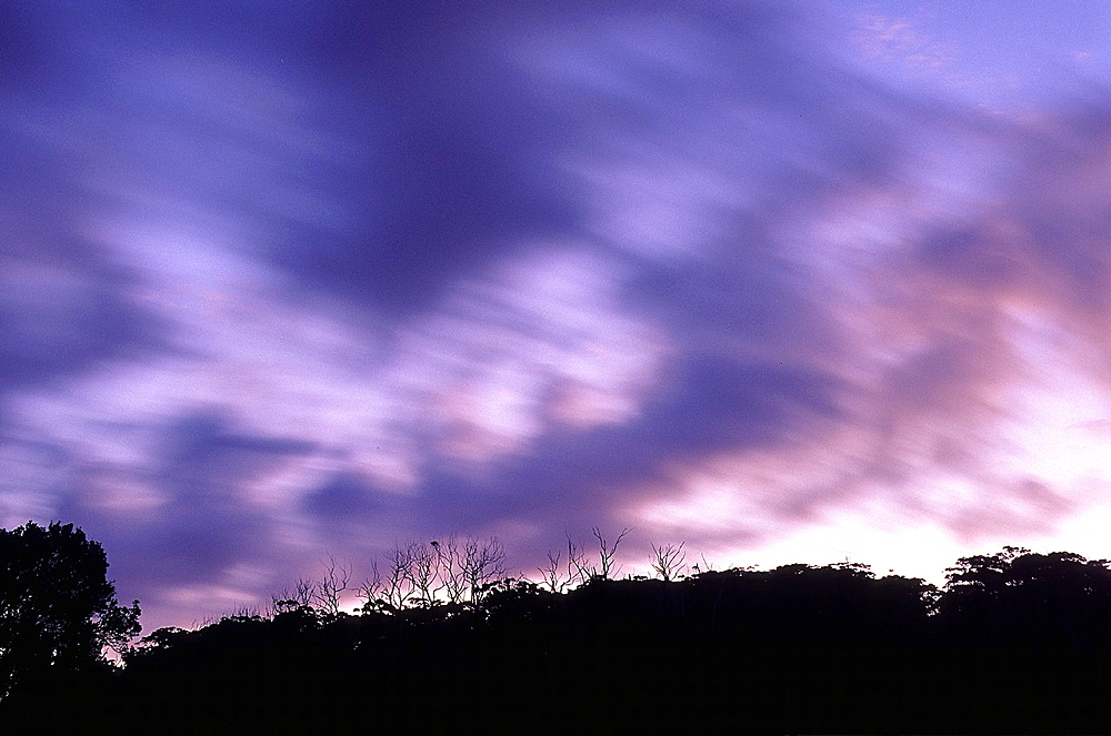 Clouds moving Myall Lakes National Park Australia