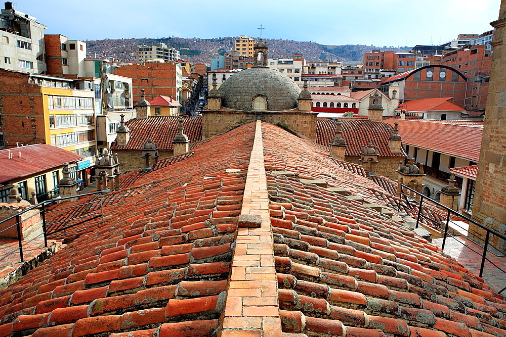 View from the roof of San Francisco church, La Paz, Bolivia
