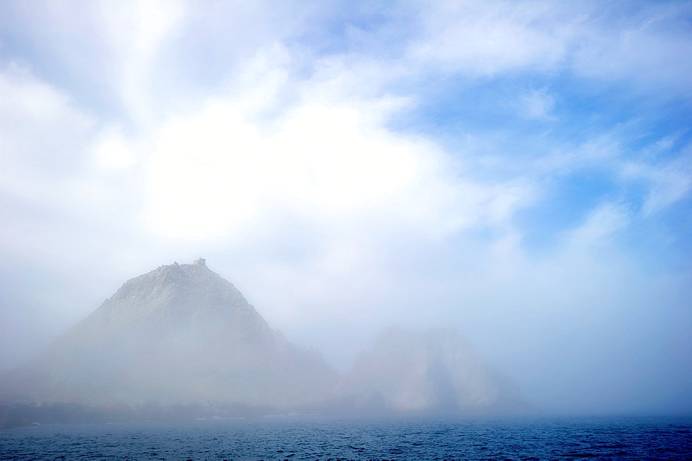 The Devil¥s Teeth Farallon Islands rising from a thick marine layer