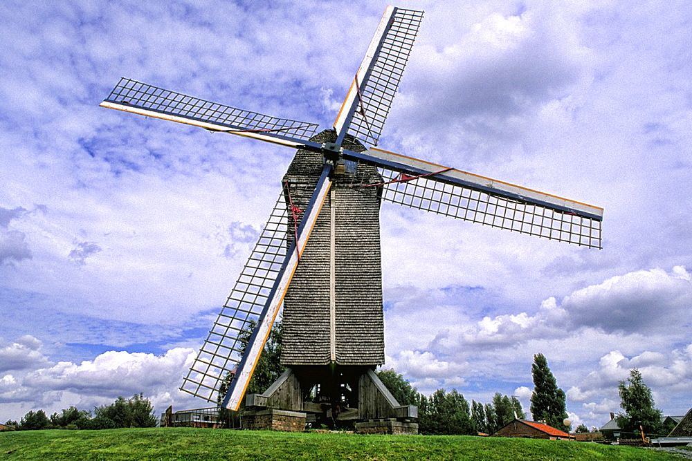 France Famous large Windmill in town of Lille France
