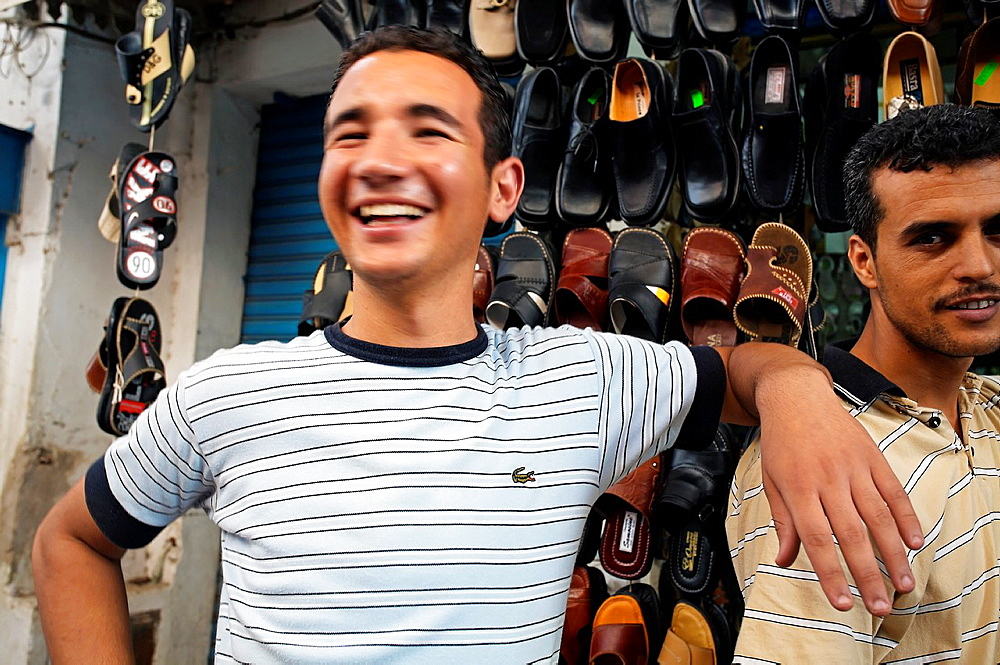 Shoes shop Medina Sfax Tunisia.