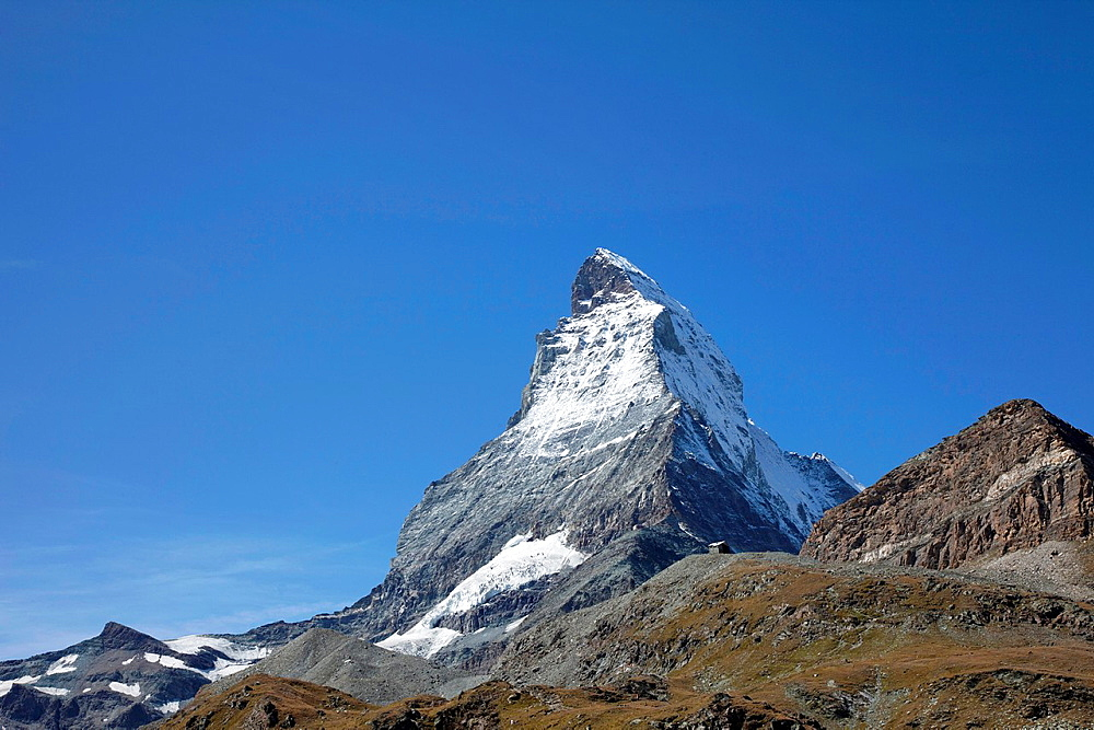 Switzerland Canton Valais Zermatt The Matterhorn.