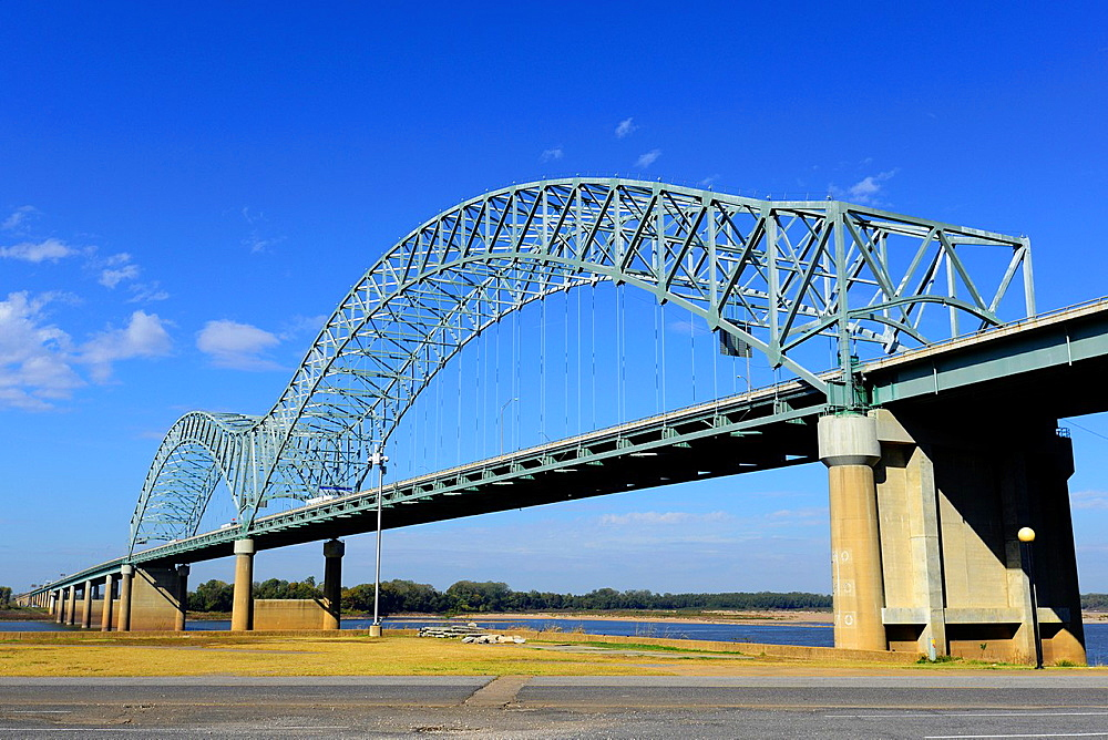 Hernando De Soto Bridge Memphis Tennessee TN Mississippi River Arkansas