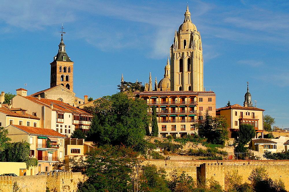 Segovia Spain Bell tower of the Cathedral of Santa Maria de Segovia