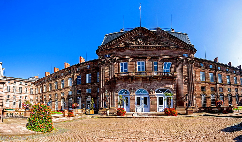 The picturesque Rohan Castle Chateau des Rohan in Saverne, Alsace, France, Europe