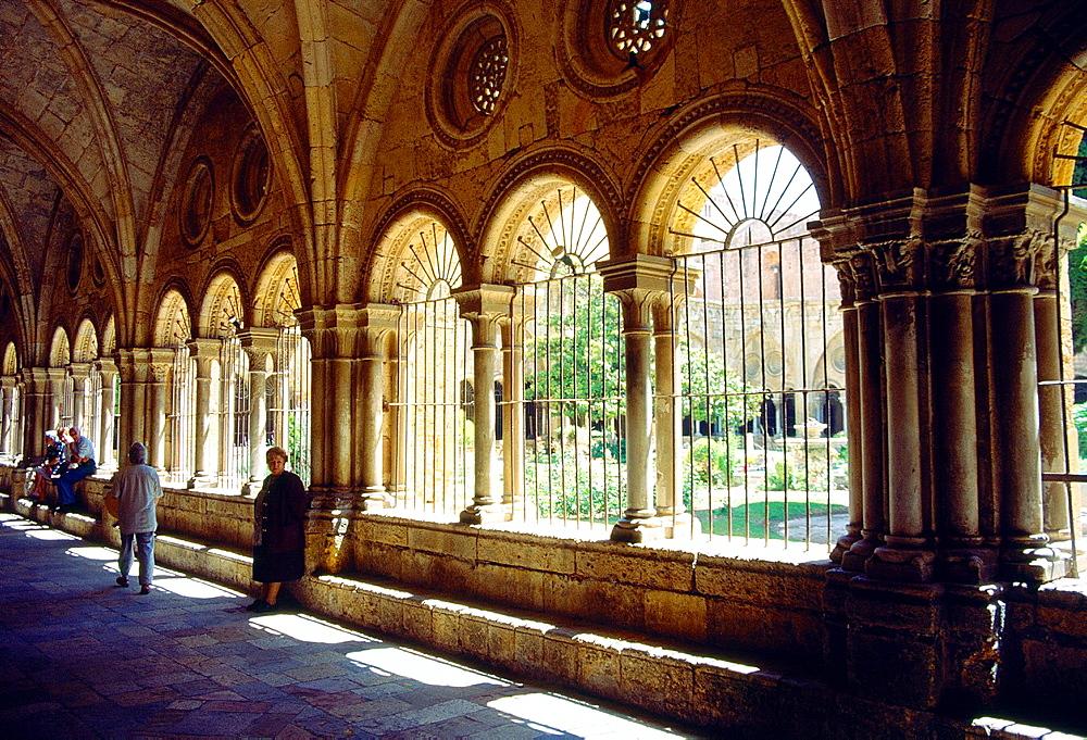 Cloister of the cathedral. Tarragona, Catalonia, Spain.