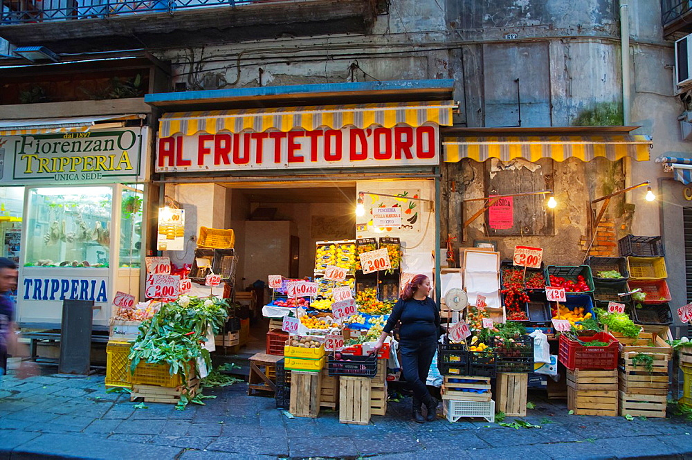 La Pignasecca street market Quartieri Spagnoli district central Naples city La Campania region southern Italy Europe