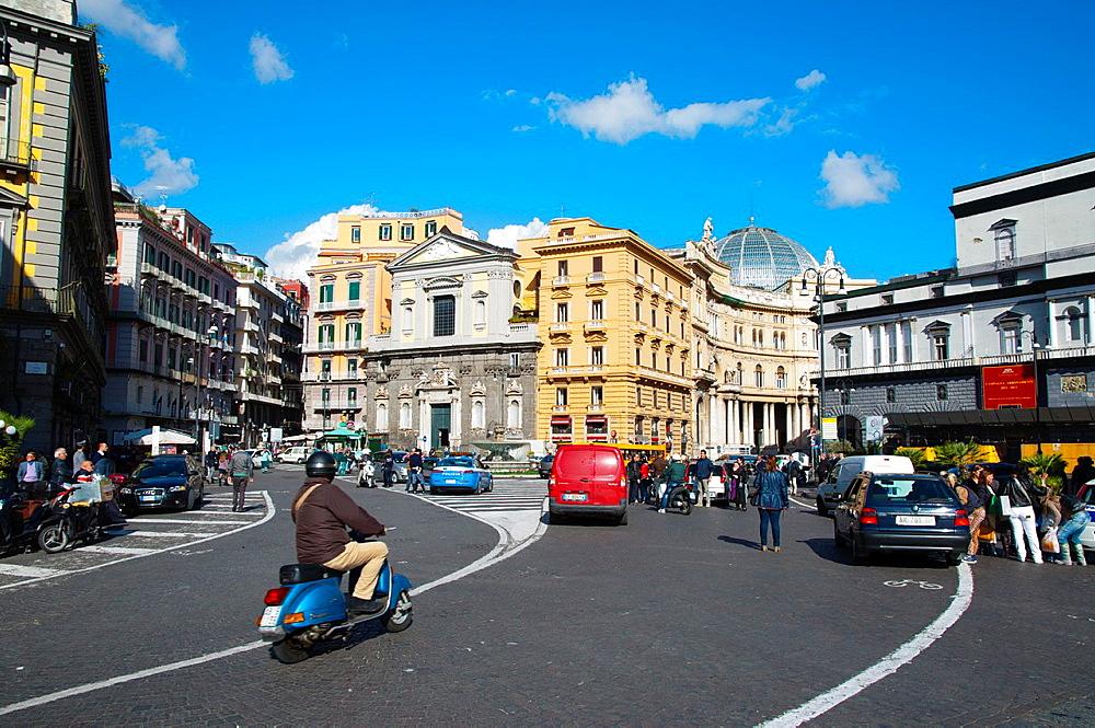 Piazza Trieste e Trento square Santa Lucia district central Naples city La Campania region southern Italy Europe