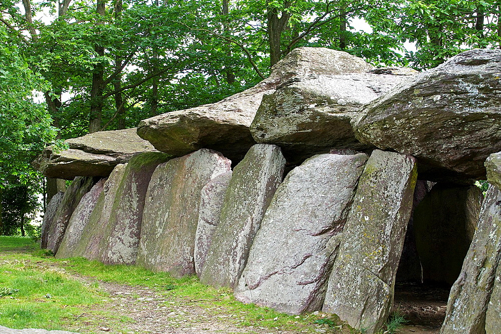 fees to the rock is a megalith of 19 meters long, for a total mass of approximately 45 tons, common esse, Ille et Vilaine, Brittany, France