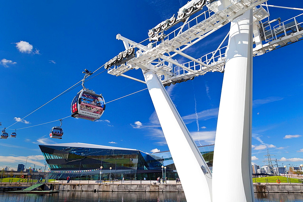 Air line emirates cable car, London, England