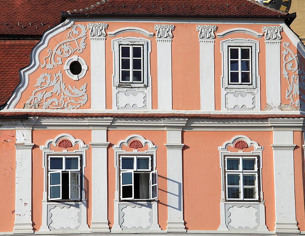 Romania, Sibiu, Piata Mica, Casa Luxemburg,