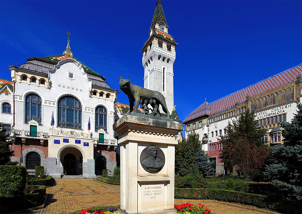 Romania, Targu Mures, County Council Building, Culture Palace,