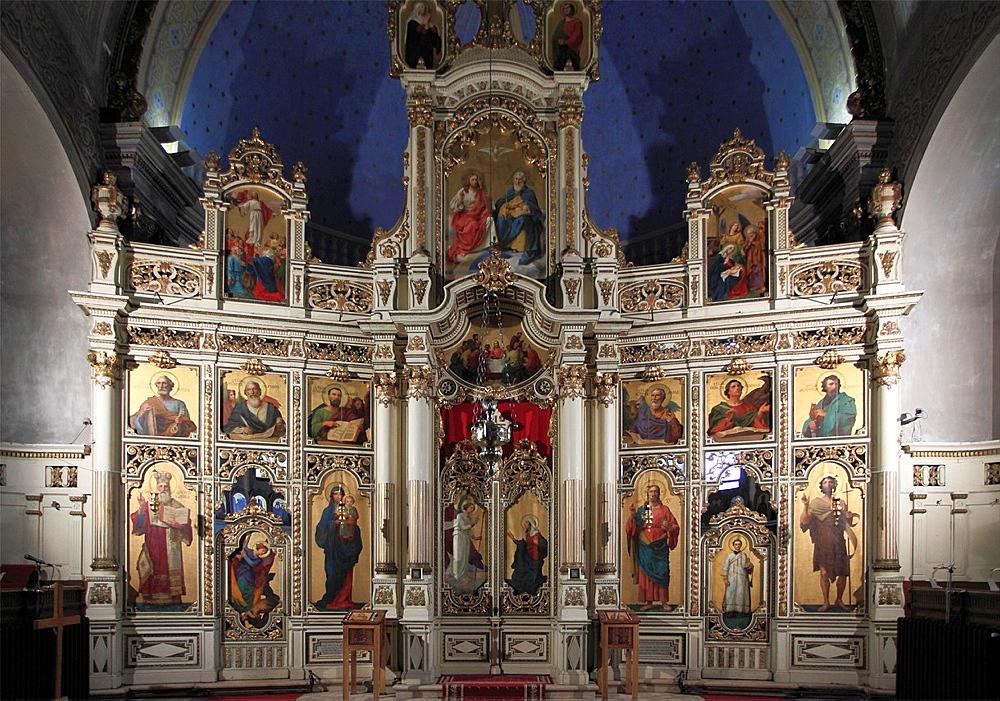 Serbia, Vojvodina, Subotica, Serbian Orthodox Church, interior,
