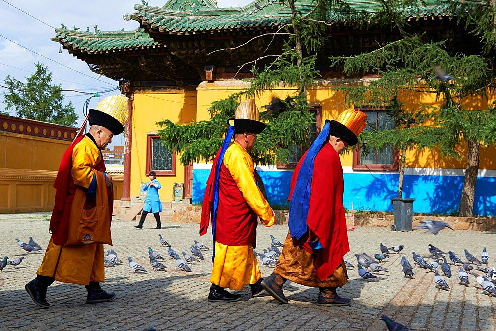 Mongolia, Ulan Bator, Gandan monastery Gandantegchinlen Khiid