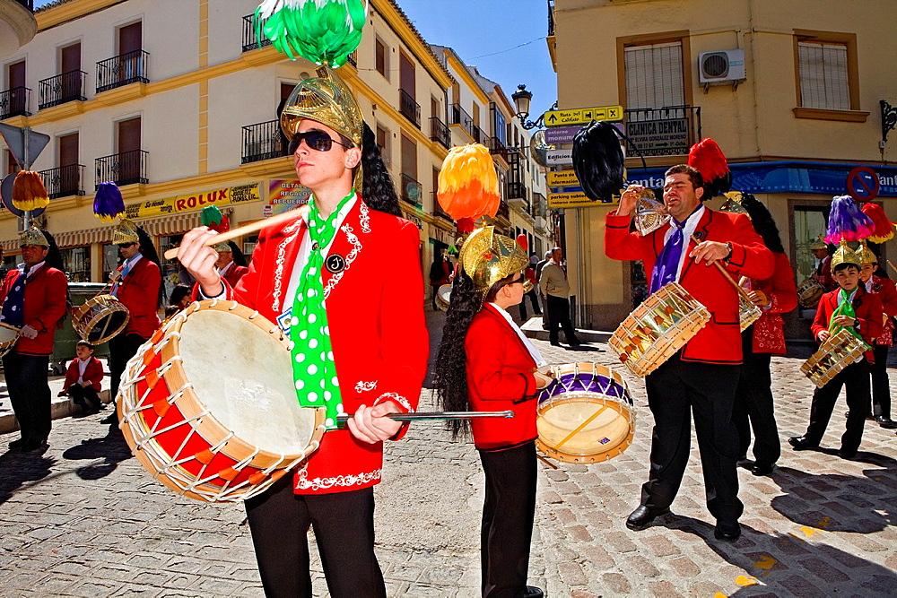 Judios colinegros Black-tailed Jews  Holy Week procession Baena  Cordoba province  Spain
