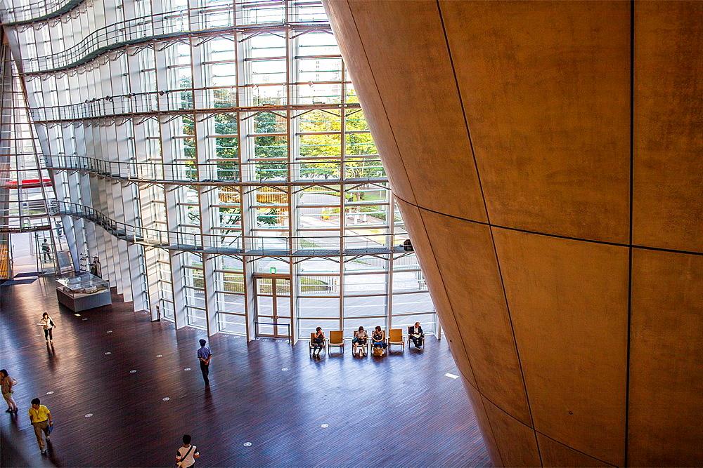 Interior of National Art Center, Tokyo, Japan
