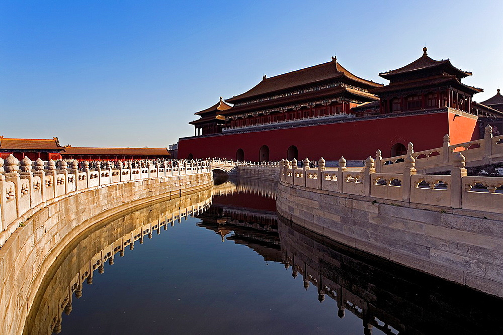 Golden Water River and Wumen Gate  The Forbidden City,Beijing, China
