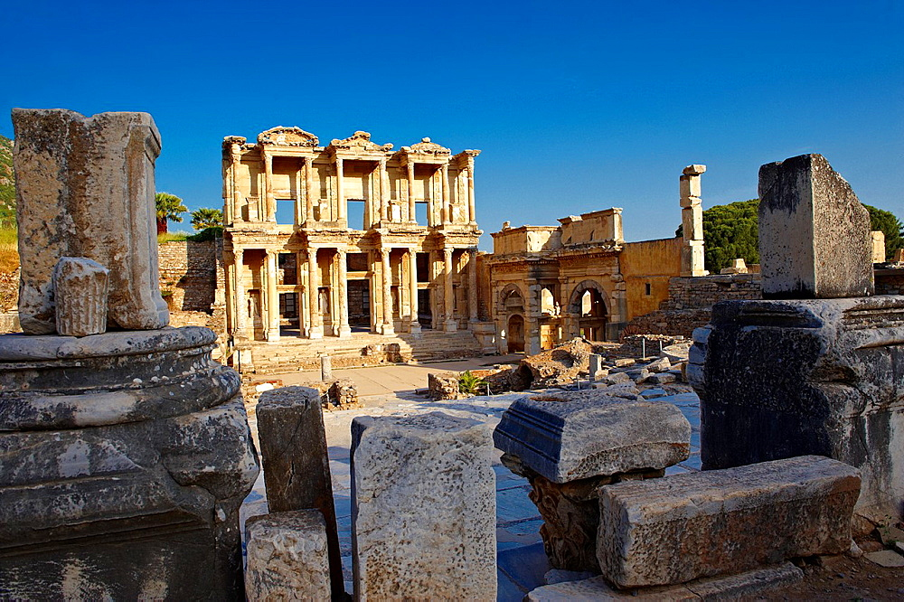 The library of Celsus, Roman ruins of Ephasus, Turkey