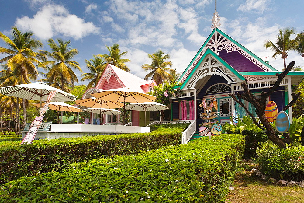 St Vincent and the Grenadines, Mustique, Britannia Bay, village shop