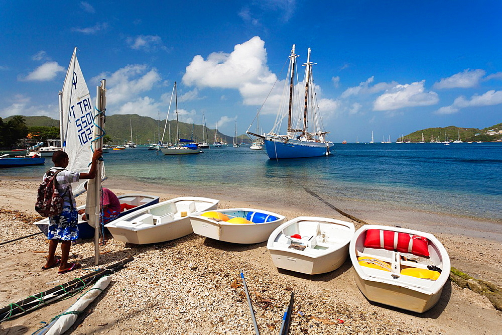 St Vincent and the Grenadines, Bequia, Port Elizabeth, Admiralty Bay, sailing school