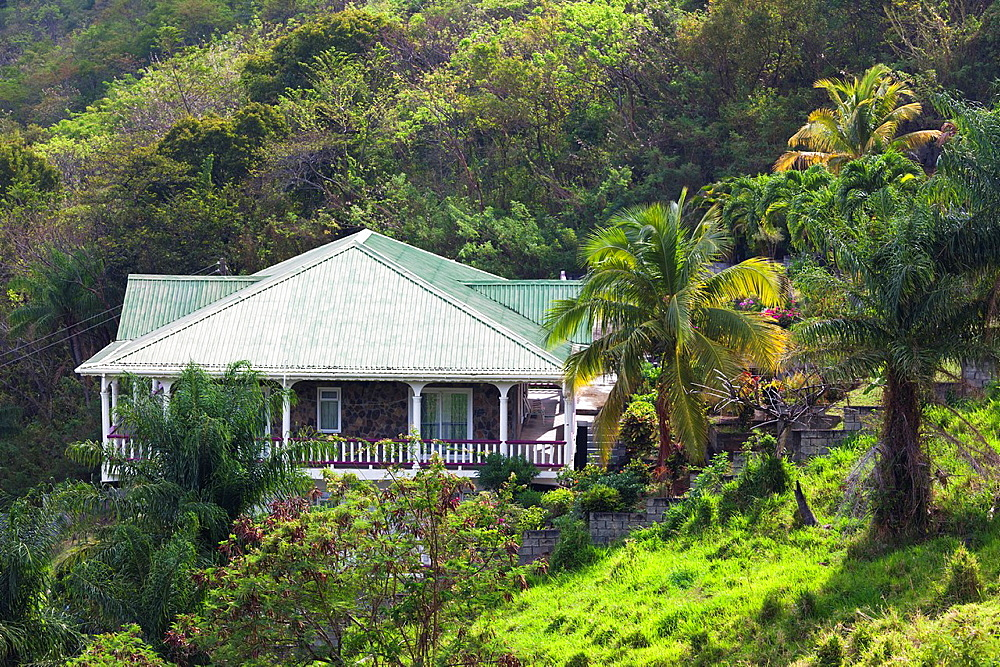 St Vincent and the Grenadines, St Vincent, Leeward Coast, Peters Hope, island house
