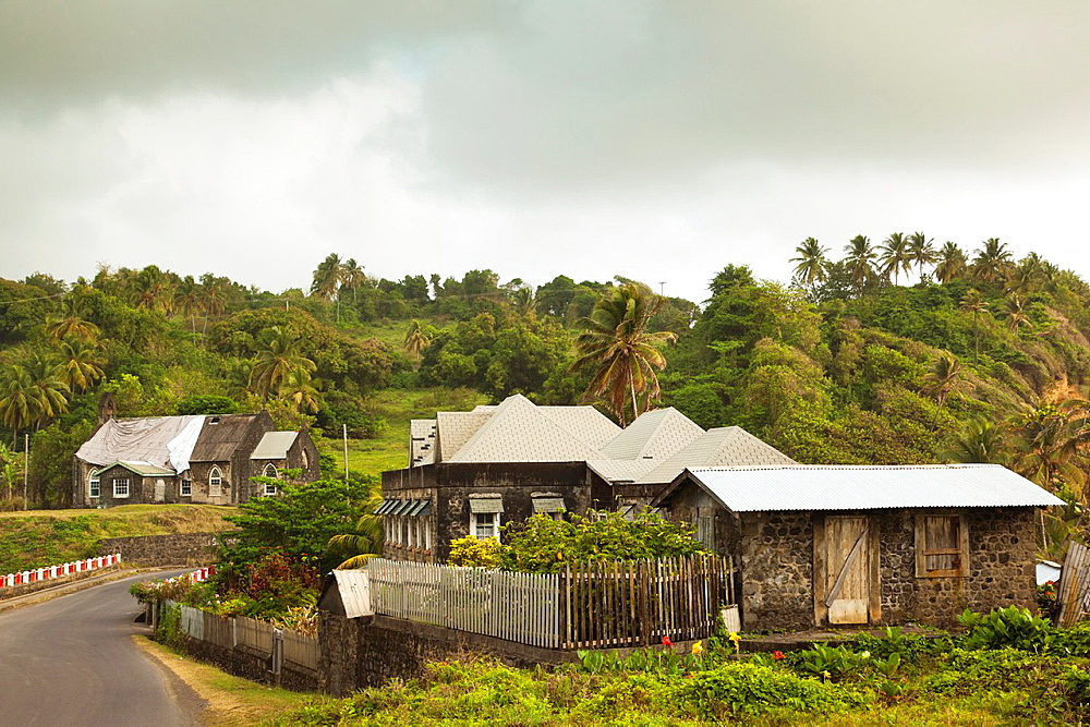 St Vincent and the Grenadines, St Vincent, San Souci, buildings