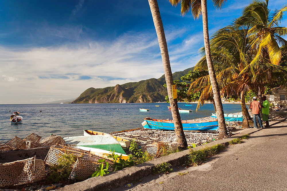 Dominica, Scotts Head, town harbor