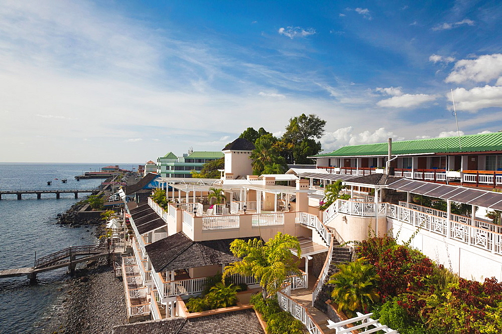 Dominica, Roseau, Fort Young Hotel, exterior