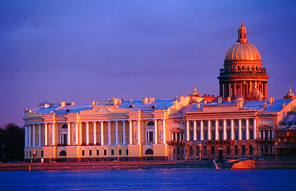 Saint Isaac's cathedral and Neva River, St, Petersburg, Russia