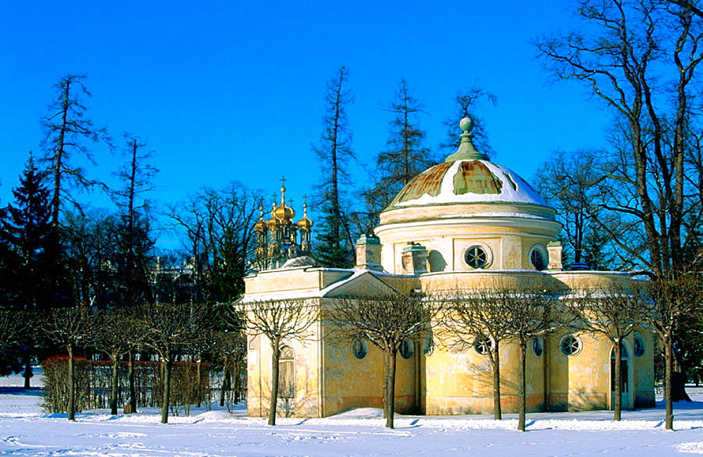 Baths building in the garden of the Catherine Palace, Pushkin, St, Petersburg, Russia