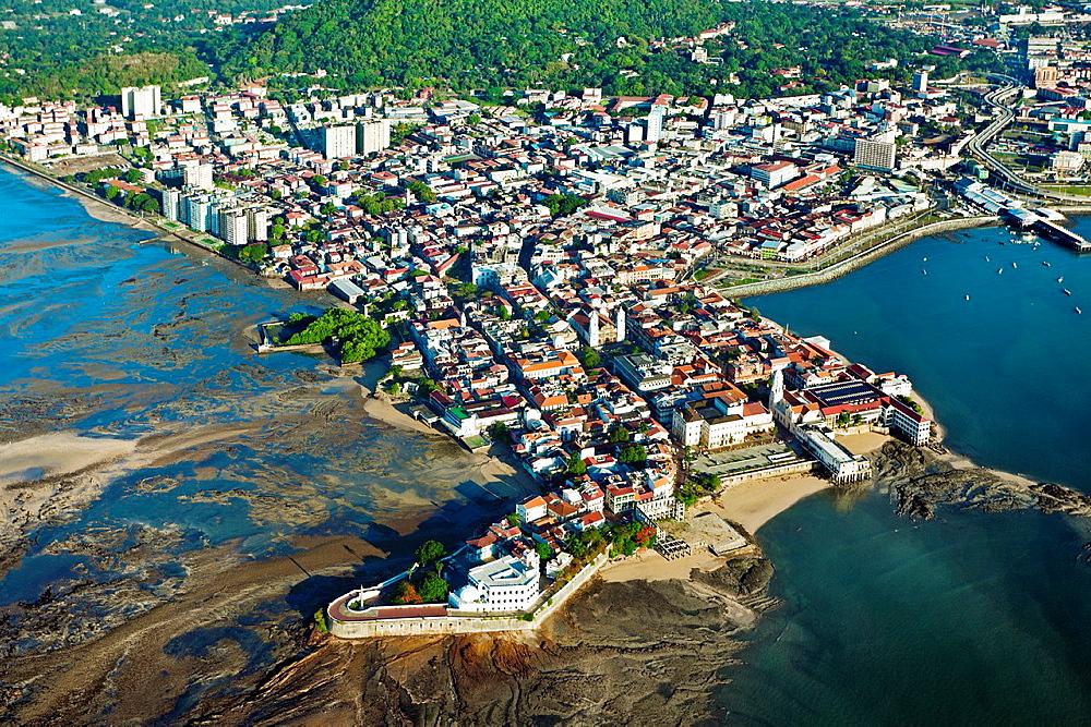 Old quarter, Aerial view, Panama City Panama