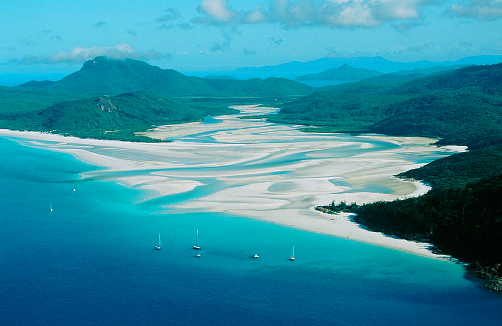 Whitehaven Beach, White Sunday Island, Great Barrier Reef, Queensland, Australia