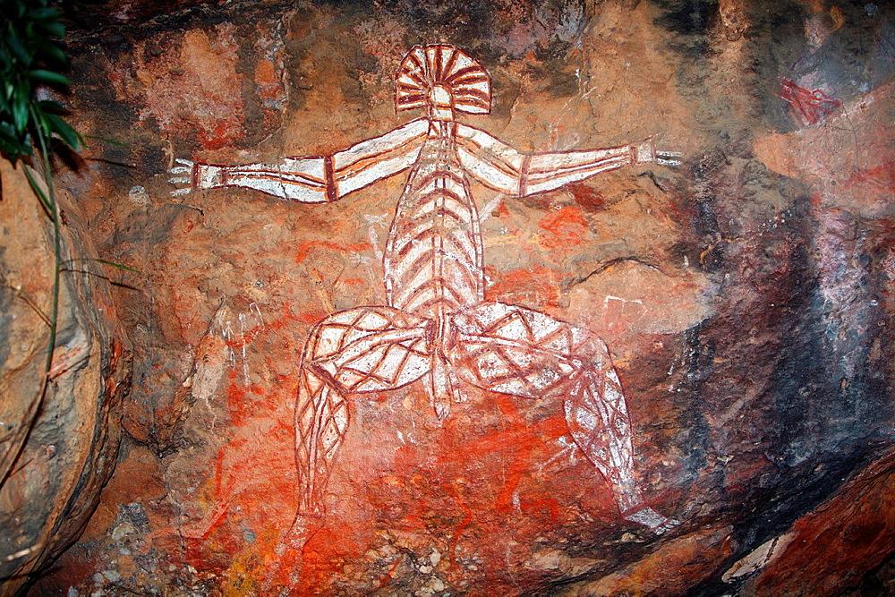 Aboriginal rock art at Nourlangie Rock in Kakadu National Park, Northern Territory, Australia