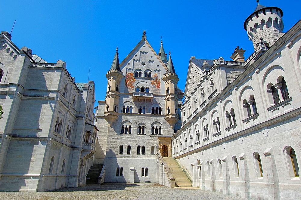 Neuschwanstein Castle, Fussen, Allgaeu, Romantic Road, Bavaria, Germany, Europe