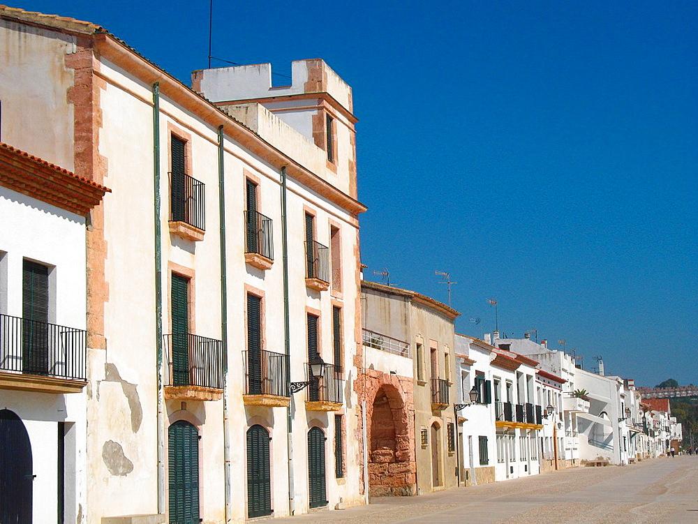 Waterfront district Altafulla, Tarragona, Spain.