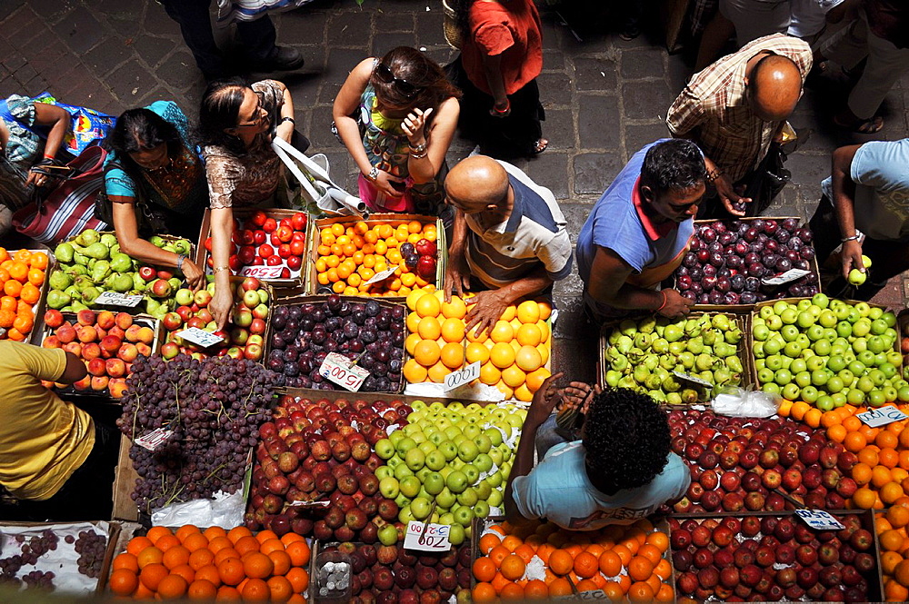 Mauritius, Port Louis, fruit stall at the Central Market