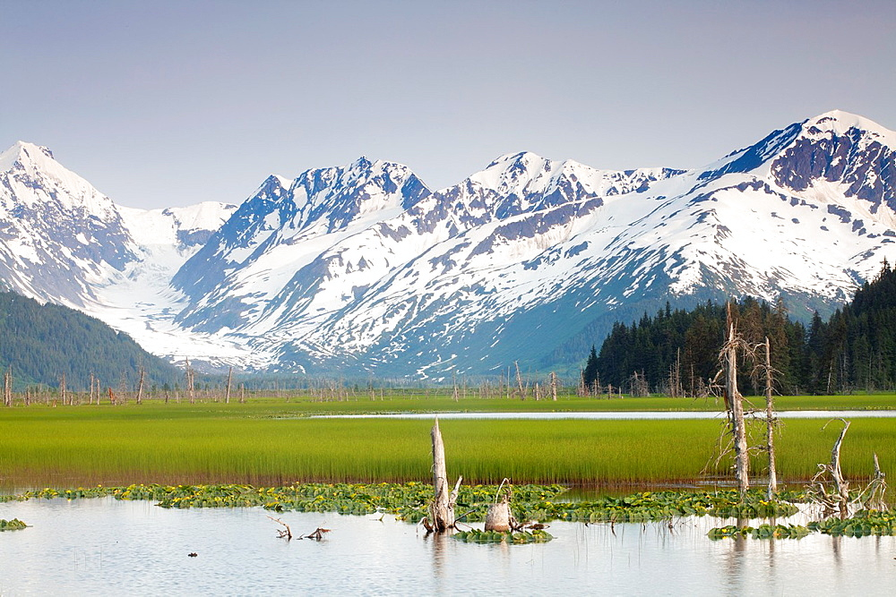 Mountains, Turnagain arm, Kenai Peninsula, Alaska, USA
