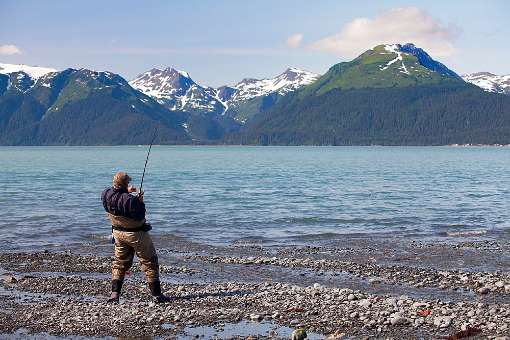 Fishing near Seward, Kenai Peninsula, Alaska, USA