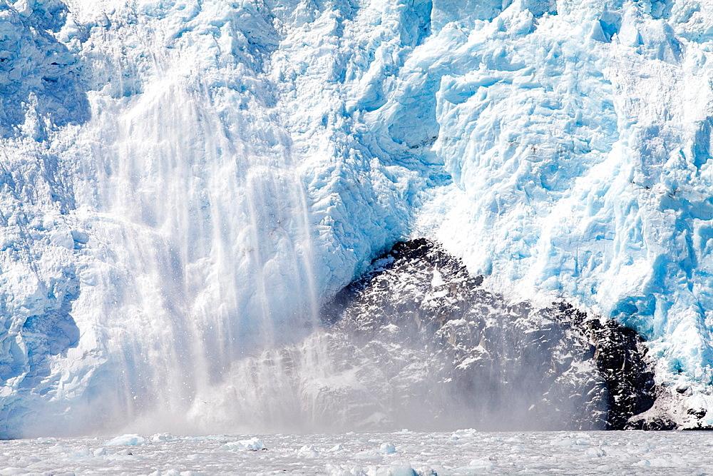 Holgate Glacier in Aialik bay, Kenai Fjords National Park, Alaska, USA