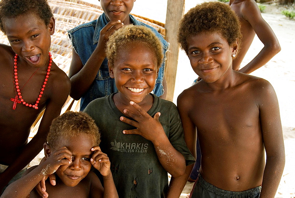 Boys at Lilisiana village, Auki, Malaita, Solomon Islands