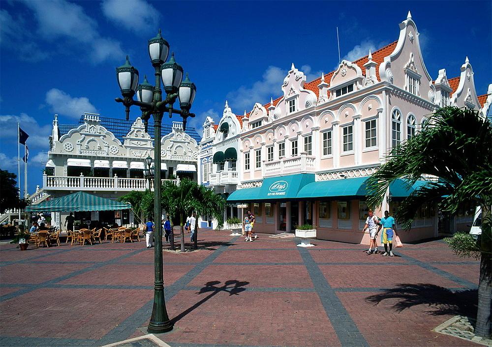Caribbean, Aruba, Oranjestad, Main Square