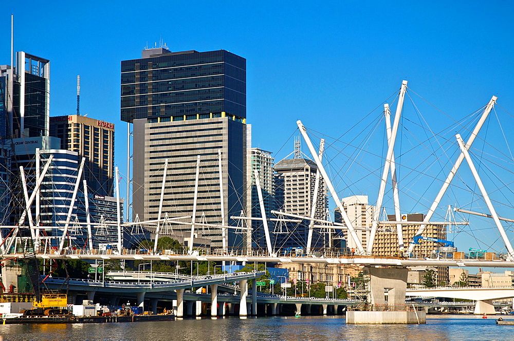 Kurilpa Bridge, The Largest Tensegrity Structure in Existence as of 2009, Brisbane, QLD, Australia