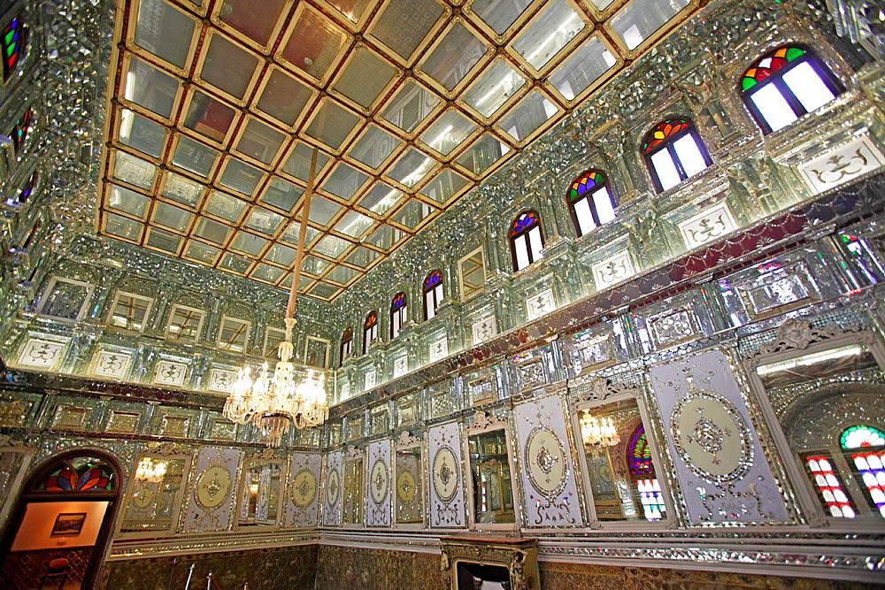 Interior of Golestan Palace, Teheran, Iran