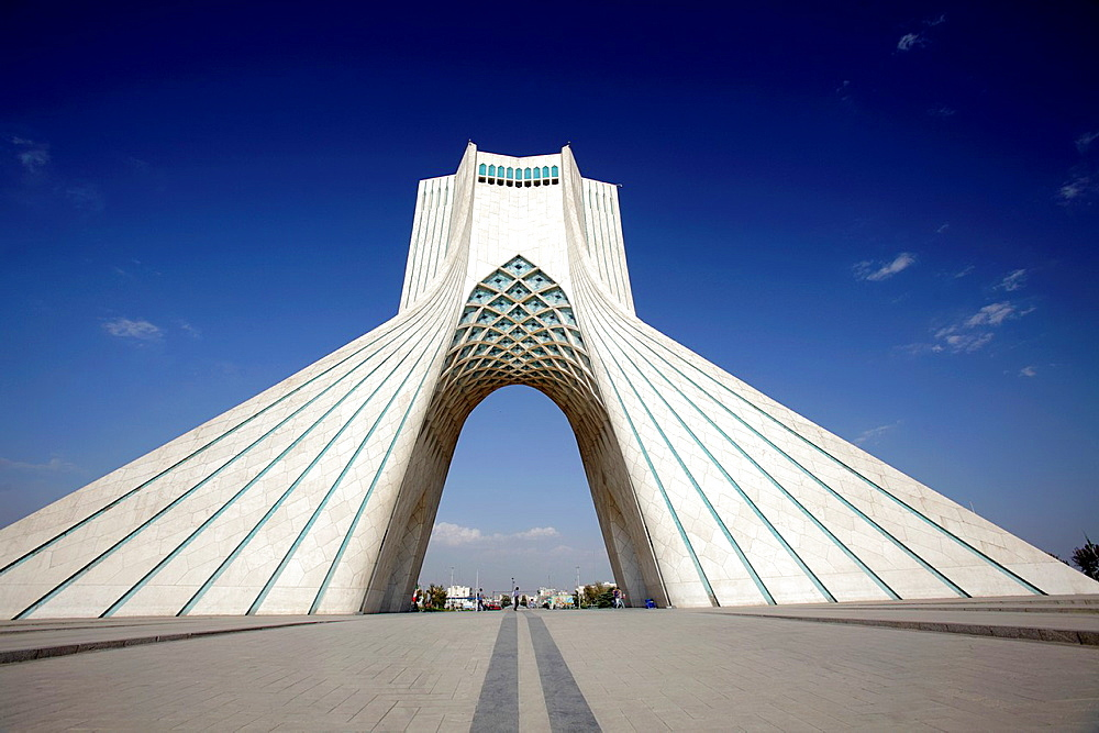The Azadi Tower, or King Memorial Tower, Teheran, Iran