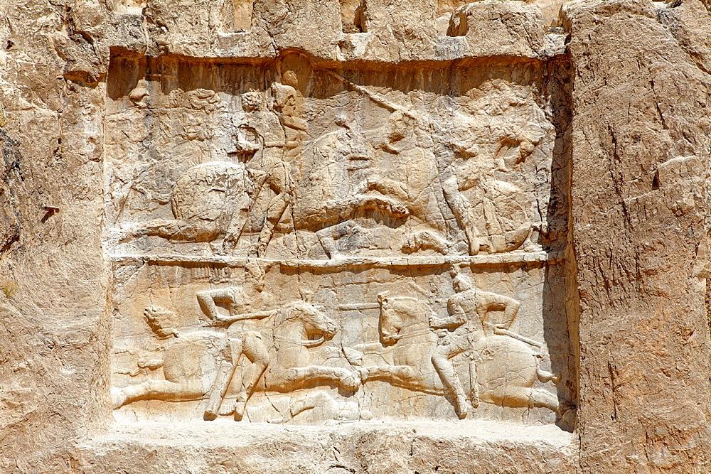 Victory of Bahram II at Naqsh-e Rostam necropolis near Persepolis, Iran