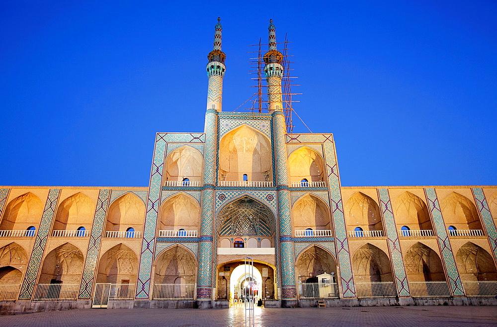 Amir Chakhmaq complex at dusk, Yazd, Iran