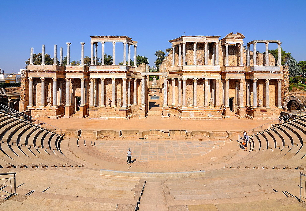 Roman theater in Merida Badajoz province Extremadra Spain