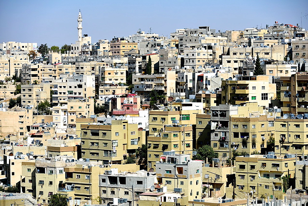 View of Amman downtown from the Citadel Jordan.